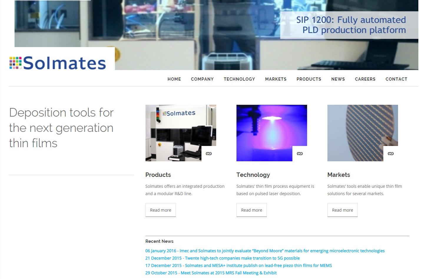 Website met tablet en mobiele weergave +++www.solmates.nl