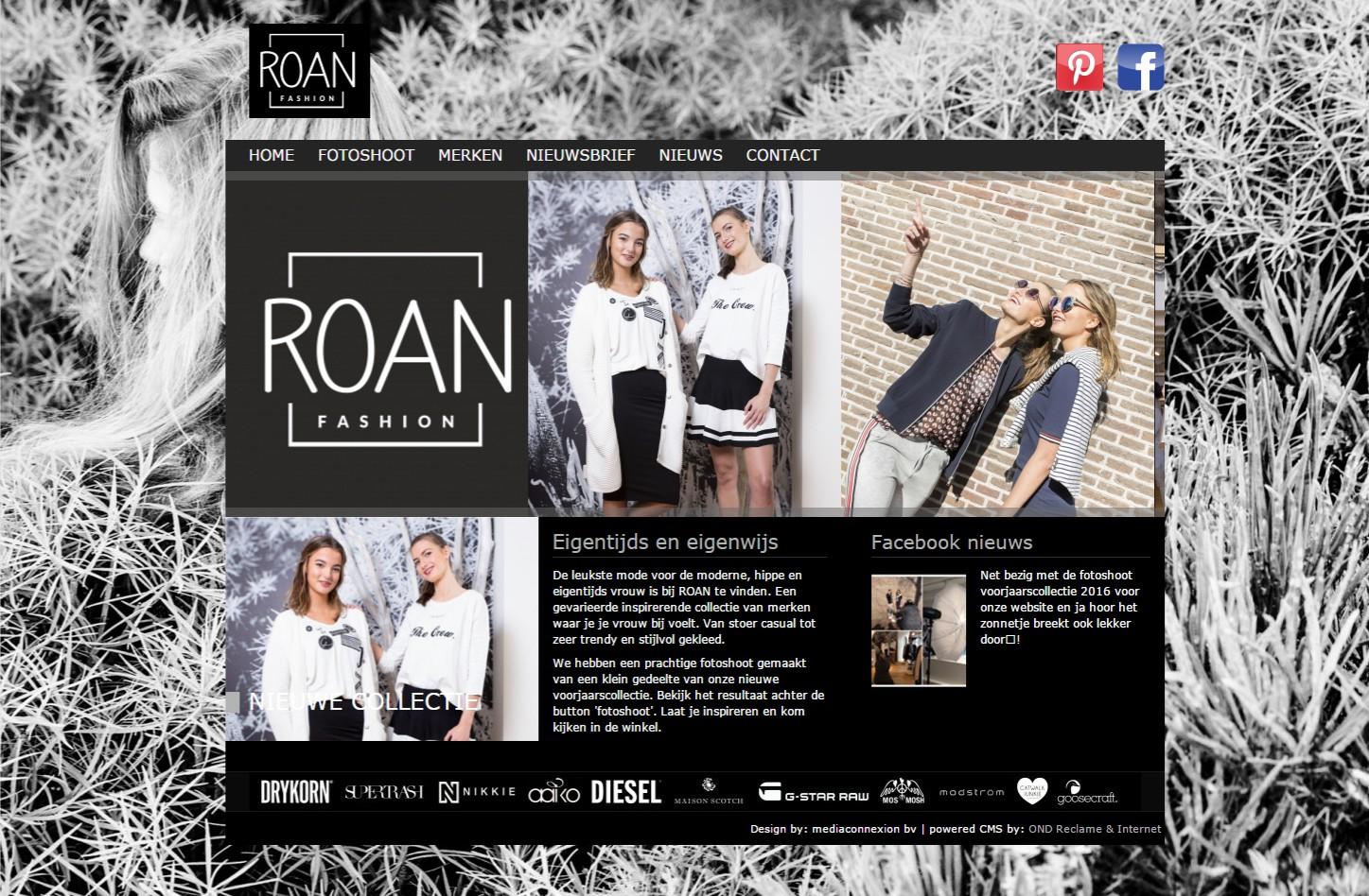 Website met foto-albums, nieuwsweergave via Facebook en aanmeldfunctie voor een nieuwsbrief. +++www.roanmeppel.nl