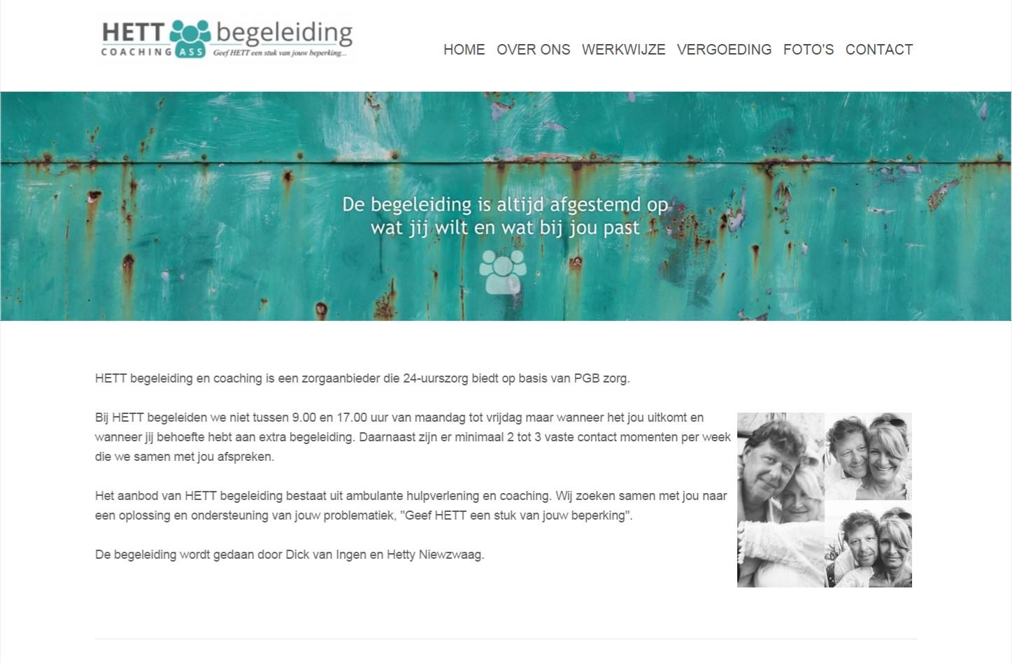 OND Basis website van € 599,00 met CMS. Eenvoudig aan te passen en te beheren via het CMS met SEO Engine. Veel extra mogelijkheden. +++www.hett-begeleiding.nl