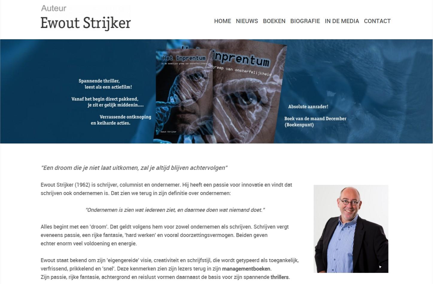 OND Basissite met nieuws of blog in het CMS. De witte uitvoering van de basis site is uitstekend geschikt voor de presentatie van teksten +++www.ewoutstrijker.nl