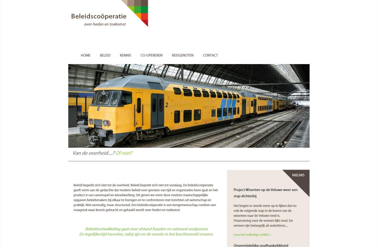 Bestaande website voorzien van het OND CMS om het zelf eenvoudig te kunnen beheren. Daarnaast zijn er nieuwe functies toegevoegd. +++www.beleidscooperatie.nl