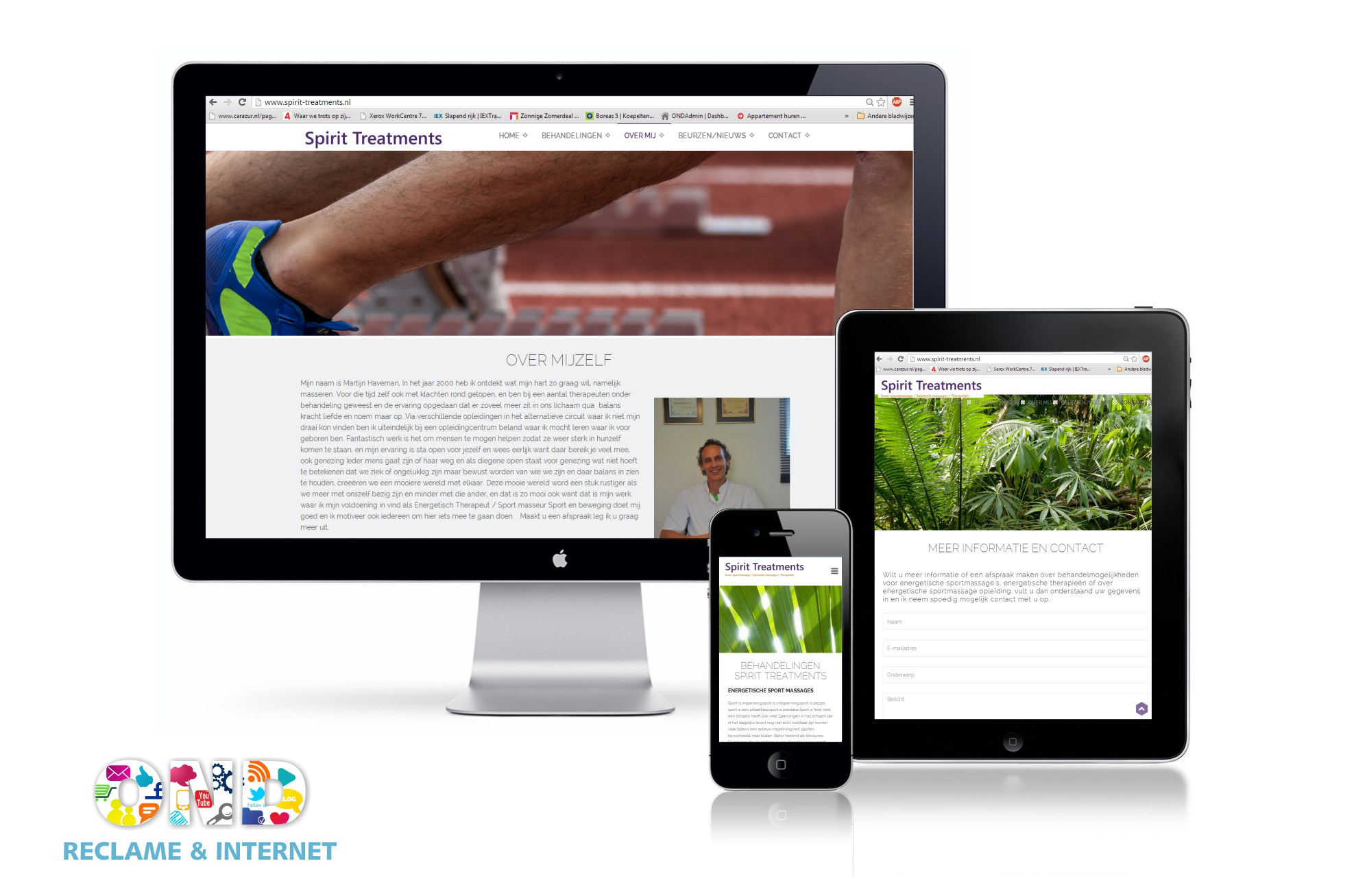 One page responsive website in HTML5 +++www.spirit-treatments.nl
